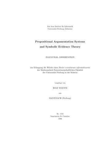 Propositional Argumentation Systems and Symbolic Evidence Theory
