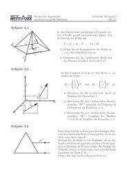 Blatt 2 - Institut für Angewandte und Experimentelle Mechanik