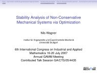 Stability Analysis of Non-Conservative Mechanical Systems via ...