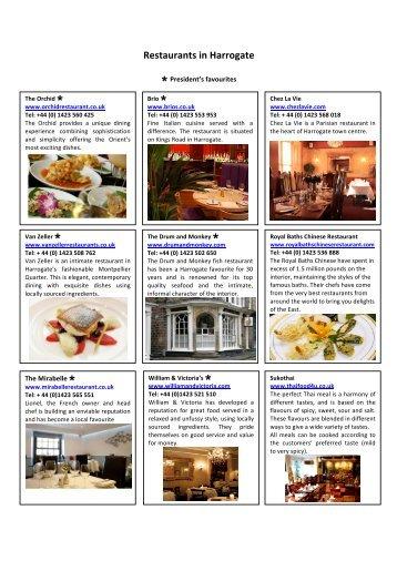 Restaurants in Harrogate