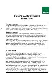 Broschüre Saatgut Herbst 2013 - Bioland
