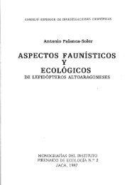 ASPECTOS F AUNÍSTICOS y ECOLÓGICOS - CSIC - Consejo ...