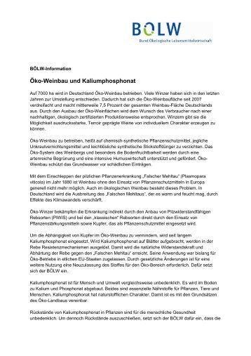 Bio-Weinbau und Kalium-Phosphonat - Bund Ökologische ...