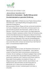 Unterricht im Gemüsebeet – BayWa Stiftung startet ... - BayWa AG