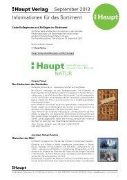 Natur - Haupt Verlag