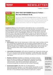 ÖKO-TEST RATGEBER Essen & Trinken – Die neue S ... - Presse