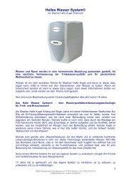 Helles Wasser System©