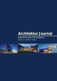 Architektur Journal - PGH Ingenieurgesellschaft mbH