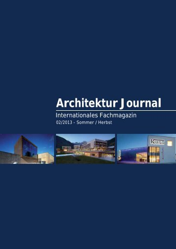 Architektur Journal - PGH Ingenieurgesellschaft mbH