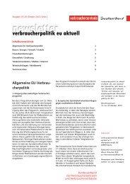 Newsletter Verbraucherpolitik EU aktuell 19/2013 - vzbv