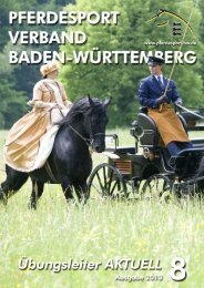 Ausgabe 08/2013 - Württembergischer Pferdesportverband eV