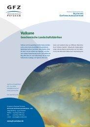 Vulkane - Geochemische Landschaftsfabriken