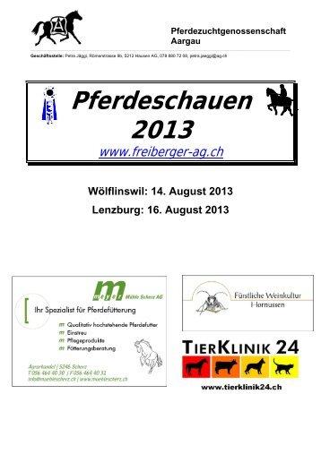 Programm Fohlenschau - Pferdezuchtgenossenschaft Aargau