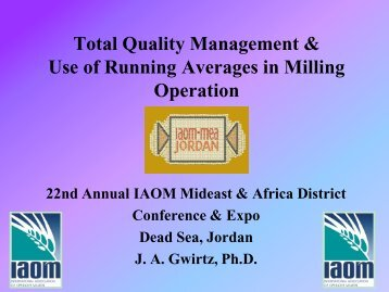 Total Quality Management Issues in Milling ... - Iaom-mea.com