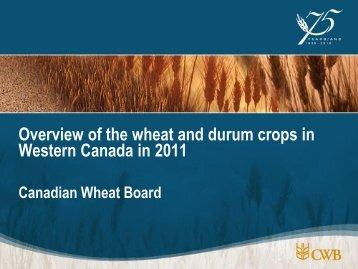 Trading Session - TS#03 - Canadian Wheat Situation - Iaom-mea.com