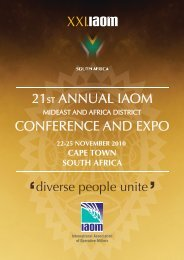 Online Catalogue - iaom mideast & africa district