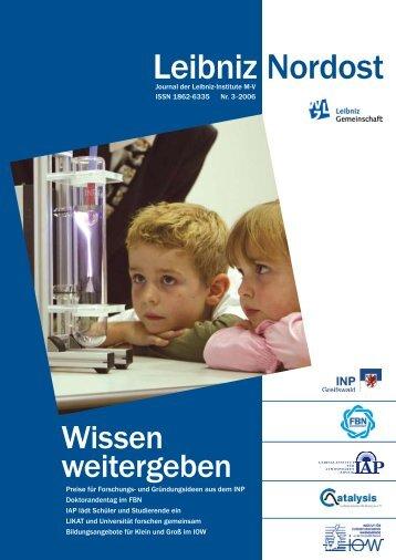 Leibniz-Nordost no. 3 (03/2006, PDF, 1.4 MB) - Leibniz-Institut für ...