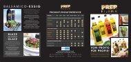 Prep Premium Spezialöle Flyer - Van Dijck GmbH