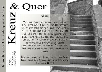 September bis November 2013 - Evangelische Kirchengemeinde ...