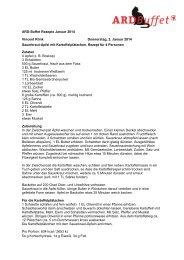 ARD-Buffet Rezepte Januar 2014 Vincent Klink Donnerstag, 2 ...