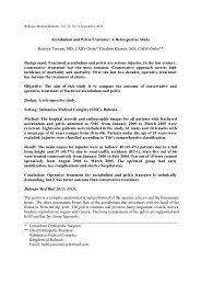 Acetabulum and Pelvis Fractures - Bahrain Medical Bulletin