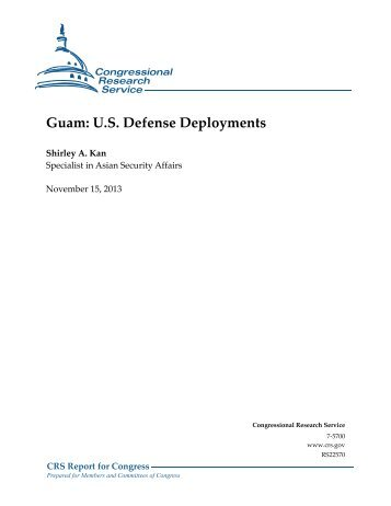 Guam: U.S. Defense Deployments - Federation of American Scientists