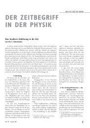 DER ZEITBEGRIFF IN DER PHYSIK - IAP/TU Wien