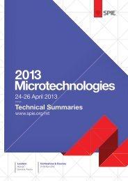 2013 Technical Summaries - IAP/TU Wien