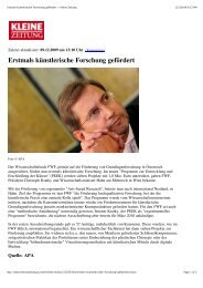 Erstmals künstlerische Forschung gefördert > Kleine ... - IAP/TU Wien