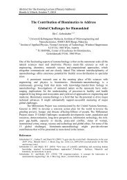 The Contribution of Biomimetics to Address Global ... - IAP/TU Wien