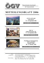 MITTEILUNGSBLATT 2006 - IAP/TU Wien - Technische Universität ...