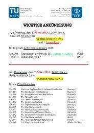 Am Dienstag, dem 5. März 2013, 12:00 Uhr s.t. findet ... - IAP/TU Wien