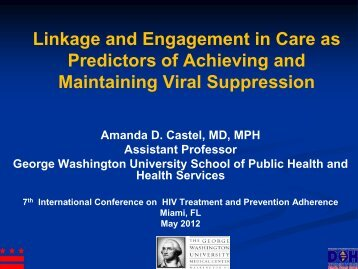 Linkage and Engagement in Care as Predictors of ... - IAPAC