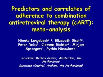 Predictors and Correlates of Adherence to Combination ... - IAPAC