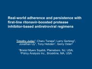Real-world adherence and persistence with first-line ... - IAPAC