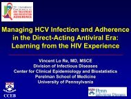 Managing HCV Infection and Treatment Adherence in the ... - IAPAC