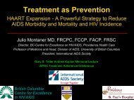 Treatment as Prevention - HAART Expansion - A Powerful ... - IAPAC