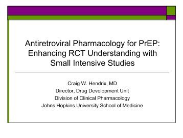 Antiretroviral Pharmacology for PrEP - IAPAC