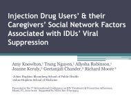 their Caregivers' Social Network Factors Associated with IDUs' - IAPAC
