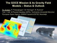 The GOCE Mission & its Gravity Field Models - Technische ...