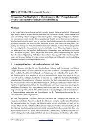Generation Nachhaltigkeit – Überlegungen über Perspektiven der ...