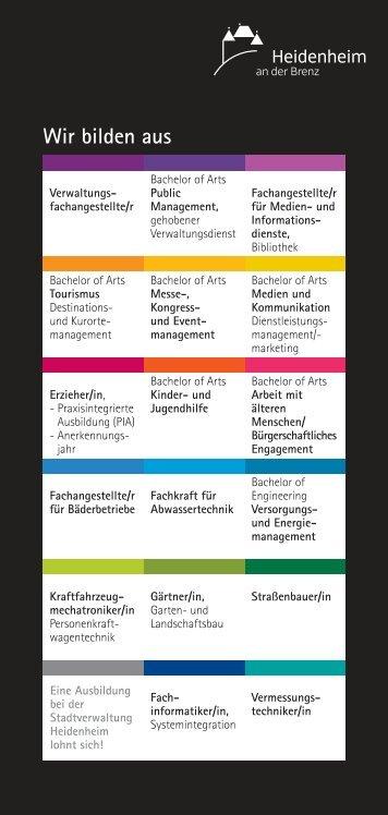 Ausbildungsberufe im Ãœberblick - Stadt Heidenheim