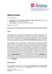WEGLEITUNG - Finma
