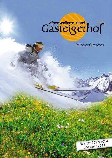 Hotel-Prospekt - Gasteigerhof