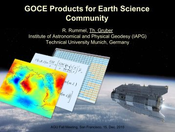 GOCE Products for Earth Science Community