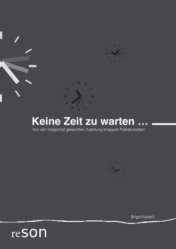 Keine Zeit zu warten … - bei ethikprojekte.ch