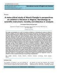 A meta-critical study of Akachi Ezeigbo's perspectives on children's ...