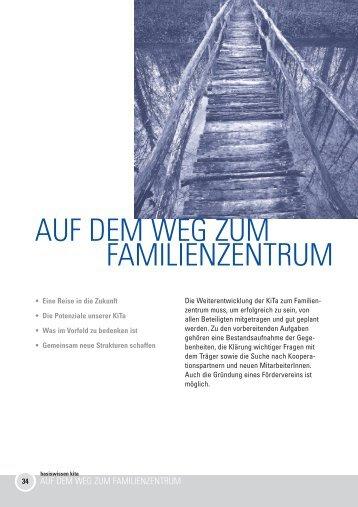 AUF DEM WEG ZUM FAMILIENZENTRUM - Kindergarten Heute