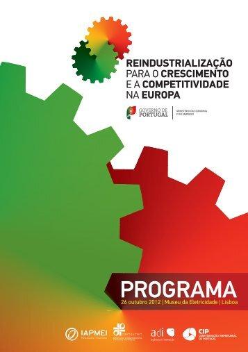 Programa | Reindustrialização para o Crescimento e a ...