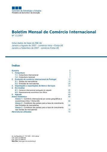 Boletim Mensal de Comércio Internacional - IAPMEI
